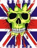 chorągwiana England czaszka ilustracji