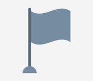Chorągwiana ikona ilustrująca Fotografia Stock