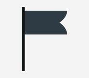 Chorągwiana ikona ilustrująca Zdjęcie Stock