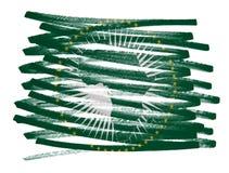 Chorągwiana ilustracja - Afrykański zjednoczenie Zdjęcie Stock
