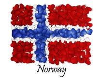 Chorągwiana miłość Norwegia Chorągwiany Kierowy Glansowany Z miłością od Norwegia Robić w Norwegia Norwegia obywatela dzień niepo ilustracja wektor