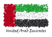 Chorągwiana miłość Zjednoczone Emiraty Arabskie Chorągwiany Kierowy Glansowany Z miłością od Zjednoczone Emiraty Arabskie Robić w royalty ilustracja