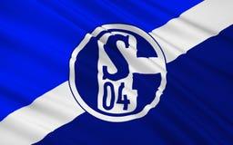 Chorągwianego futbolu klub Schalke 04, Niemcy obraz royalty free