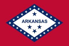 chorągwiany Arkansas stan również zwrócić corel ilustracji wektora royalty ilustracja