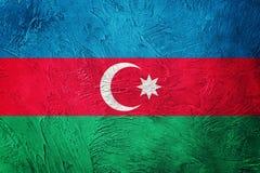 chorągwiany Azerbaijan grunge Azerbejdżan flaga z grunge teksturą Obraz Royalty Free