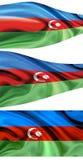 Chorągwiany Azerbejdżan Fotografia Royalty Free