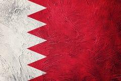 chorągwiany Bahrain grunge Bahrajn flaga z grunge teksturą Fotografia Stock