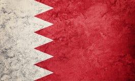 chorągwiany Bahrain grunge Bahrajn flaga z grunge teksturą Obrazy Royalty Free