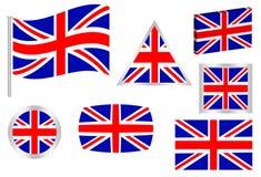 chorągwiany British set royalty ilustracja