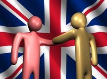 chorągwiany British uścisk dłoni royalty ilustracja