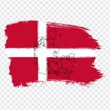 Chorągwiany Dani od muśnięć uderzeń Dani i Pustej mapy Wysokiej jakości mapa Dani i flaga na przejrzystym tle Ilustracja Wektor