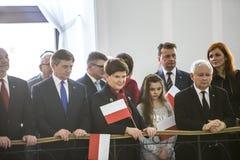 Chorągwiany dzień republika Polska w Parlamencie obrazy royalty free