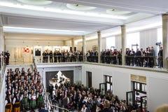 Chorągwiany dzień republika Polska w Parlamencie Obrazy Stock