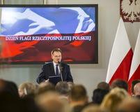 Chorągwiany dzień republika Polska w Sejmowym republika Polska, Fotografia Royalty Free