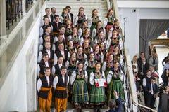 Chorągwiany dzień republika Polska w Sejmowym republika Polska, Zdjęcie Royalty Free