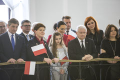 Chorągwiany dzień republika Polska w Sejmowym republika Polska, Zdjęcia Royalty Free