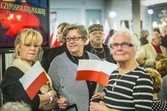 Chorągwiany dzień republika Polska w Sejmowym republika Polska, Obraz Royalty Free