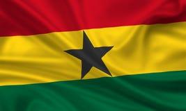 chorągwiany Ghana ilustracja wektor