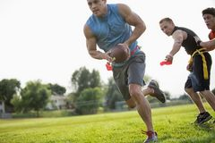 Chorągwiany gracza futbolu bieg zdjęcia stock
