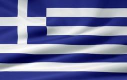 chorągwiany Greece Zdjęcia Stock