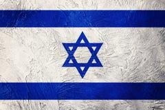 chorągwiany grunge Israel Izrael flaga z grunge teksturą Obraz Royalty Free