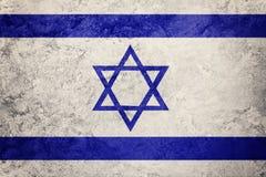 chorągwiany grunge Israel Izrael flaga z grunge teksturą Zdjęcie Royalty Free