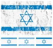chorągwiany grunge Israel set Obrazy Stock