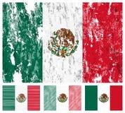 chorągwiany grunge Mexico set Obrazy Royalty Free