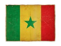 chorągwiany grunge Senegal Fotografia Royalty Free