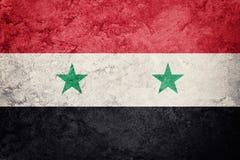 chorągwiany grunge Syria Syryjczyk flaga z grunge teksturą Zdjęcie Stock