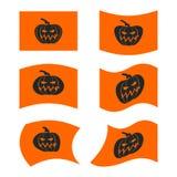 Chorągwiany Halloween Znak ustawiający dla okropnego wakacje Tradycyjny festi royalty ilustracja