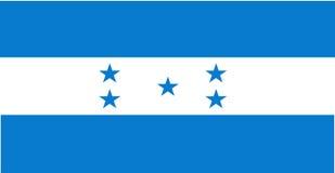 chorągwiany Honduras ilustracja wektor