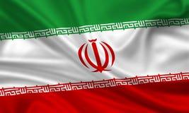 chorągwiany Iran ilustracja wektor