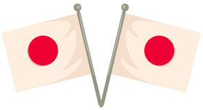 chorągwiany Japan Zdjęcie Stock