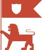 Chorągwiany lew Obraz Royalty Free