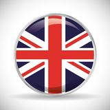 Chorągwiany London England projekt ilustracja wektor