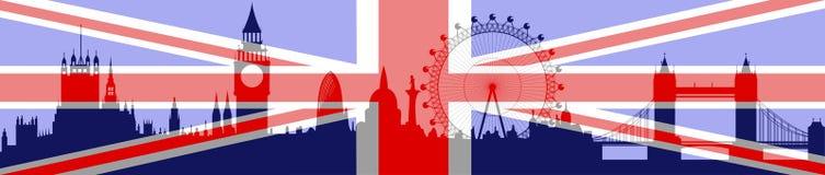 chorągwiany London linia horyzontu wektor Zdjęcia Royalty Free