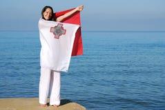 chorągwiany Malta fotografia stock