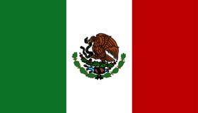 chorągwiany Mexico Fotografia Royalty Free