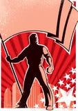 chorągwiany okaziciela plakat Zdjęcia Stock