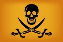 chorągwiany pirat royalty ilustracja