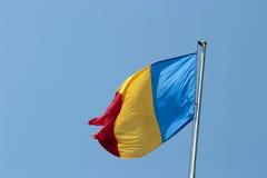 chorągwiany Romania Zdjęcia Stock