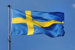 chorągwiany Sweden Zdjęcie Stock