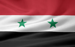 chorągwiany Syria Obrazy Stock