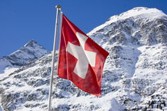 chorągwiany szwajcar zdjęcie royalty free