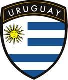 chorągwiany Uruguay Zdjęcia Royalty Free