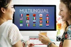 Chorągwianych krajów symbolu Cudzoziemski Międzynarodowy pojęcie zdjęcie stock