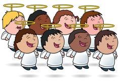 Chor des himmlischen Kindes Stockfotografie