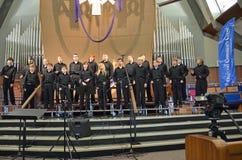 Chor des Jungen Stockbild