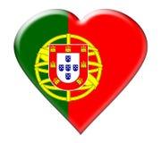 chorągwiana ikona Portugal Zdjęcie Stock